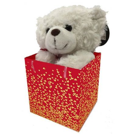 Hearts of Gold Bear in a Gift Bag